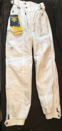Descente Woman's Ski Snow Pants White Double Lined NWT New w
