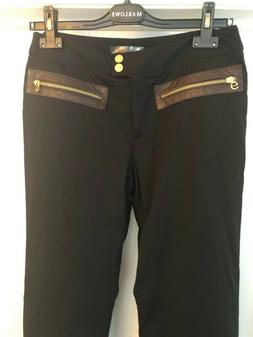 ERIN SNOW Women's Ski Snowboard Pant - SIZE 8 - with leather
