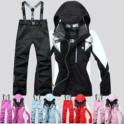Women's Winter Waterproof Outdoor Coat Pants Ski Suit Jacket