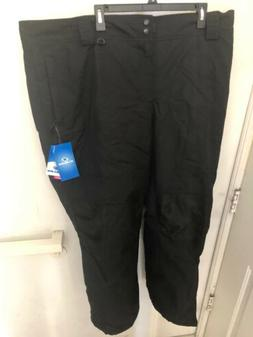 Slalom Womens 3x Insulated Ski Snow Pants Black New Water Re