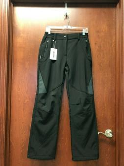 Wantdo Womens Black Ski Pants Size Medium Snow Stretch Pocke