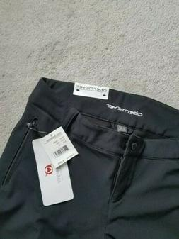 Obermeyer Womens Black Snow Ski Pants Size 12 Nylon Lined Zi