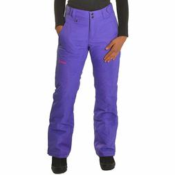 womens pl1800 insulated snowboard ski pants violet