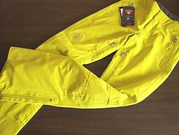 womens ski pants size 4 acid yellow