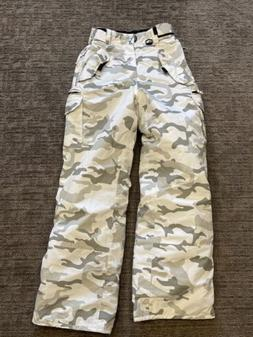youth large 16 18 white camouflage ski